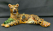 Jay Strongwater Leopard Lying Down Ornament New Tags Nm Box