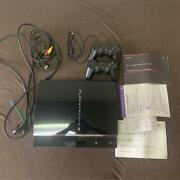Used Sony Playstation 3 Ps3 Cecha00 60gb First Model Console Ps1 Ps2 W/adapter