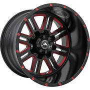 4 - 20x14 Black Red Milled Wheel American Offroad Renegade A106 6x135 6x5.5 -76