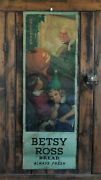 Orig. 1917-50 Halloween-themed Betsy Ross Bread Sign 34x12 With Jack O Lantern