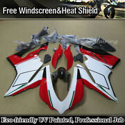 Injection Fairing Kit For Ducati 1299 959 Panigale 2015-2018 White Red Body Work