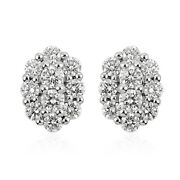 Rhapsody 950 Platinum Diamond Cluster Earrings Fine Jewelry Gifts For Her Ct 1