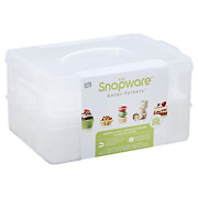 Snapware Snap N Stack Large 2-layer Cookie And Cupcake Carrier