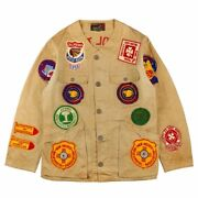 10-x 50s Vintage Shooting Jacket Patch Chain Stitch Size 42 Menand039s Outerwear