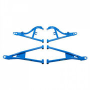 Tusk Mohawk Extreme Duty High Clearance A-arms Full Set Blue With Bushing