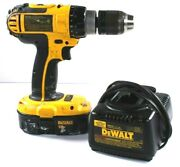Dewalt 18v Dc725 Cordless 1/2 Compact Hammer Drill W/ Battery And Charger