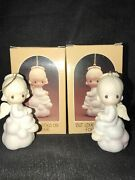 Precious Moments But Love Goes On Forever Matching Boy And Girl Ornaments New