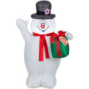 3.5 Ft. Frosty With Scarf And Present Christmas Inflatable