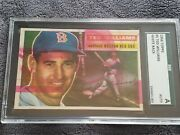 1956 Topps 5 Ted Williams 1/1 Fascinating Factory Error Sgc Auth Mint Corners