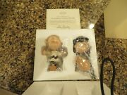 Lenox Peanuts Tough Break Charlie Brown And Lucy W/football China Statue New Htf