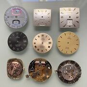 9 Omega Lecoultre Longines Accutron Tissot Watch Dial Movements Lot Watchmaker