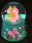 Disney Tinker Bell Flower And Butterfly Musical Snow Water Globe Ball Kcare