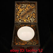 7.8collecting Chinese Antique Handmade Enamel Porcelain Bowl Lacquerware Box