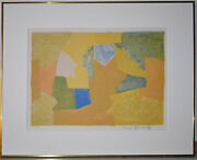 Russian / French Artist, Serge Poliakoff Original Lithograph Signed Abstract