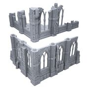 Gothic Sci-fi Ruins By Terrain4print Set A 3d Printed Tabletop Rpg Scenery