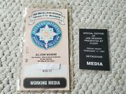 Authentic 1994 Nba All-star Weekend Minneapolis Working Media Pass + Jam Session