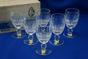 Waterford Colleen 6 White Wine Glasses 4 1/2 -brand New In Box