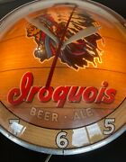 Vintage 1960andrsquos Iroquois Beer Double Bubble Wall Clock
