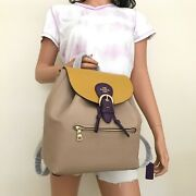Nwt Coach Colorblock Leather Kleo Drawstring Backpack Bag C5788