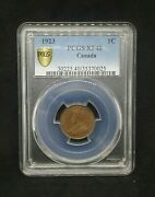 1923 1c Canada Small One Cent Pcgs Xf40 Key Date Free Shipping