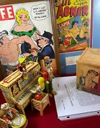 Vintage Lil Abner Bonanza Windup Tin Litho Toy Al Capp Autograph And More Used