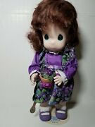 Precious Moments Doll Violet February 1456 With Tag And Stand