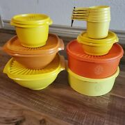 Lot Of Vintage Servalier Tupperware Canisters W/ Lids - Assorted Colors
