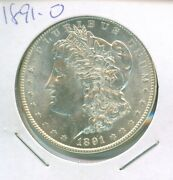 Lookin' Choice For Sure 1891-o Morgan Silver Dollar, White And Frosty
