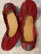 Red Tieks Shoes Size 8 Excellent Pre-owned Condition No Marks Or Blemishes