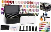 Gel Nail Polish Set 132 Bottles Nude Pink Yellow Red Blue Purple 120 Colors