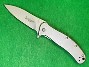 Kershaw 1730ss Zing Stainless Speedsafe Assisted Open Flipper Knife Used T37
