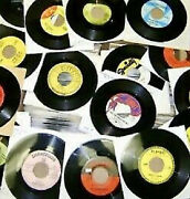 Four Dozen 48 45 Rpm Records All From The 1960's Free Shipping Oldies Rock