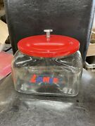Lance Crackers Classic Metal Lid Counter Top Glass Jar New