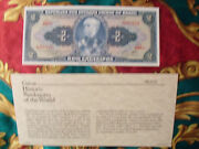 Great Historic Banknotes Brazil 1958 2 Cruzeiros Unc P-157ac Serie 1068a