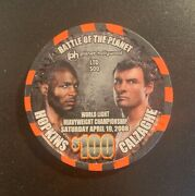 2008 Hopkins Vs Calzaghe Fight 100 Collectible Ph Planet Hollywood Casino Chip