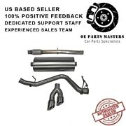 Corsa 14874 304 Ss Cat-back Exhaust System Dual Side For Silverado/sierra 14-19