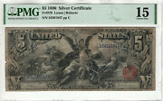 1896 5 Silver Certificate Educational Note Fr.270 Lyons Roberts Pmg Choice F 15