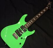 Used Ltd / Esp Mt-130 Green Stratocaster Hsh Rose Fb Good Condition W/gb