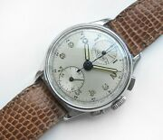 Heuer Up-down Vintage Military Chronograph Valjoux 77 Air Observer Wwii