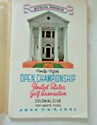 Official Program Open Golf Championship Fort Worth Colonial Country Club 1941