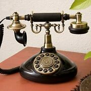 Antique Style Rotary Dial Phone At-1920b Ringing Tone On/off Redial Fn Japan New