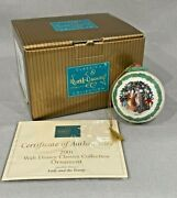 Wdcc 2001 Classic Disney Ball Ornament Lady And The Tramp W/box And Coa