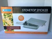 Camerons Products Stovetop Smoker - New Gourmet Stainless Steel And Heavy Duty Nib