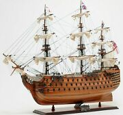37 Inch Ship Model Hms Victory Wood Replica Nautical Decor Display Collectible