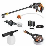 20v Cordless Pressure Washer Portable Power Hydroshot Cleaner W/ Accessories