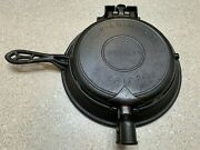 Vintage Griswold The American No. 8 Cast Iron Waffle Maker W/ Base Restored
