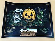 Mondo Halloween Iii 3 Season Of The Witch Poster /250 Signed Atkins And Nelkin Jsa