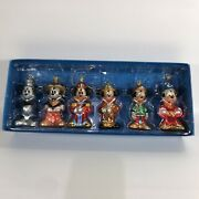 Mickey Mouse Disney Mickey Through The Years Glass Christmas Ornaments See Desc