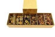 Lot Of 1000+ La Mode Buttons In Original Box - Huge Collection Mostly Browns