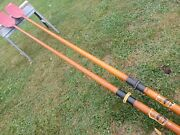 Two Wood Sweep Oars Made By Croker Australia 1970s For Racing Rowing Shells